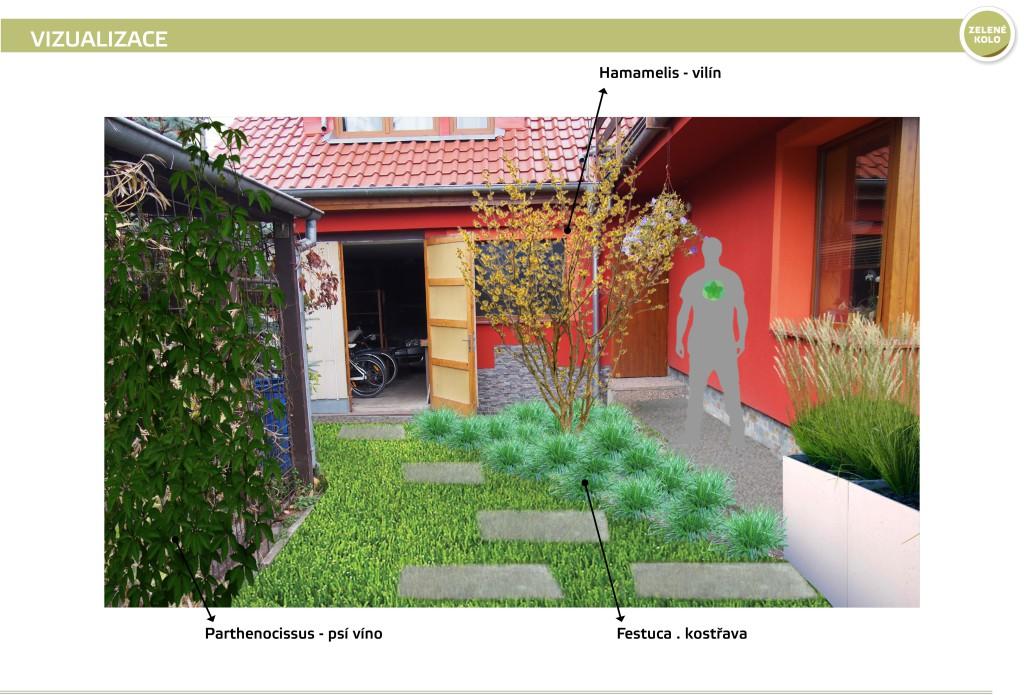 Obr. 6 Vizualizace - zákres do fotografie