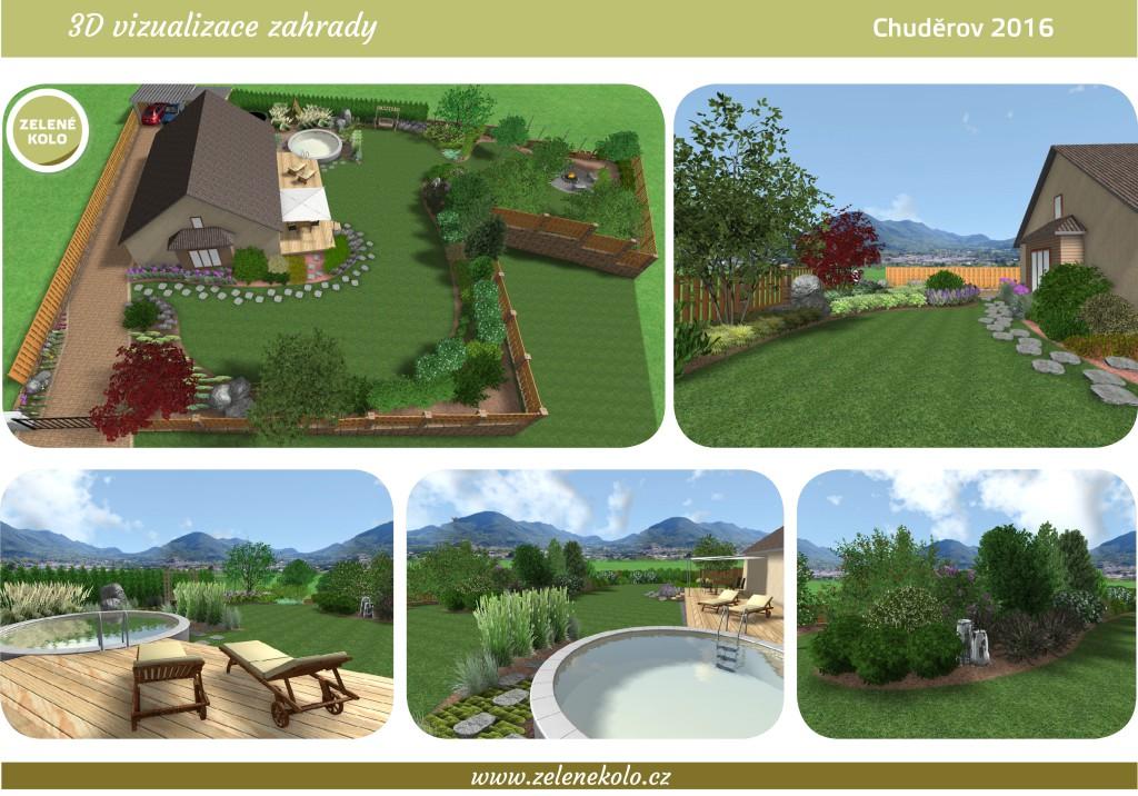 Obr. 7 3D vizualizace zahrady (1)